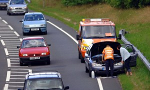 An RAC breakdown assistance van on a call out