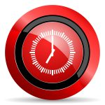 time red glossy web icon