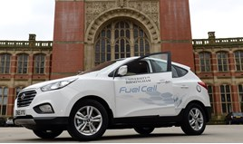 University of Birmingham's first hydrogen powered fleet car